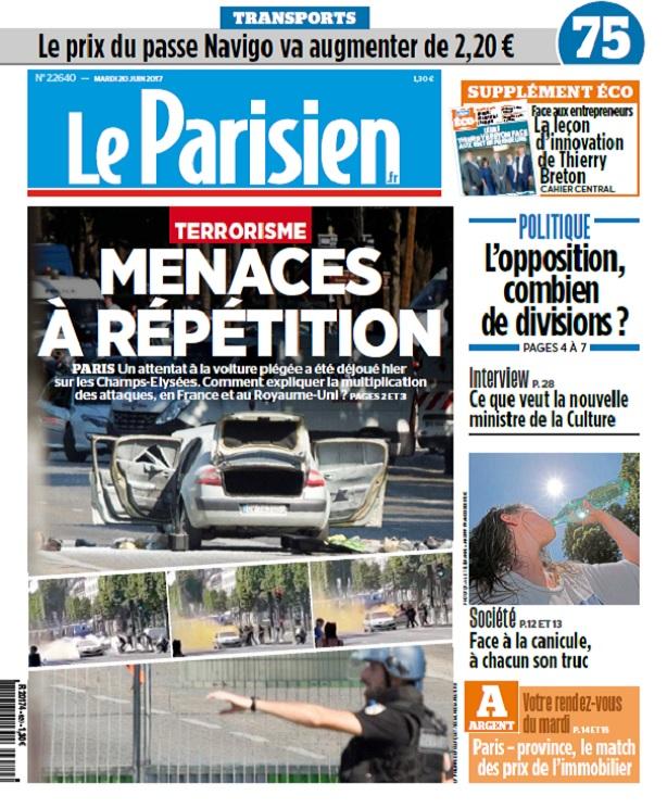 Le Parisien + Eco + Journal De Paris Du Mardi 20 Juin 2017