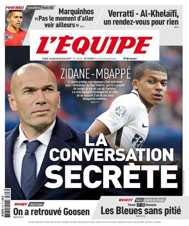 télécharger L'Equipe Du Vendredi 23 Juin 2017