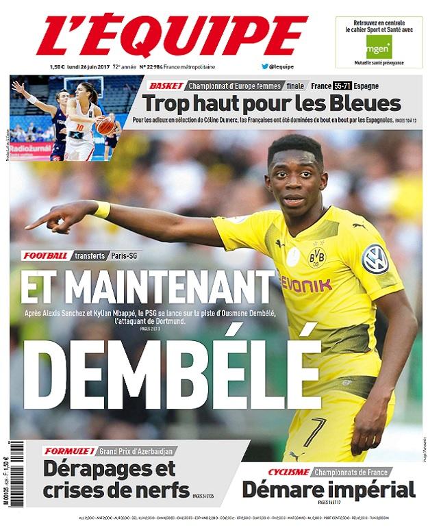 télécharger L'Equipe Du Lundi 26 Juin 2017