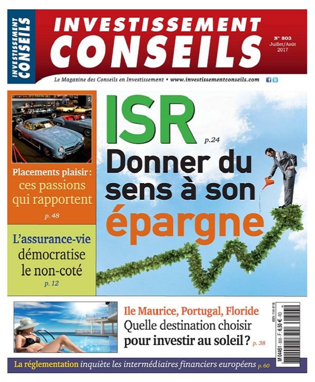 télécharger Investissement Conseils N°803 - Juillet-Aout 2017