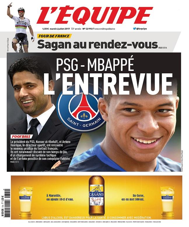 télécharger L'Equipe Du Mardi 4 Juillet 2017