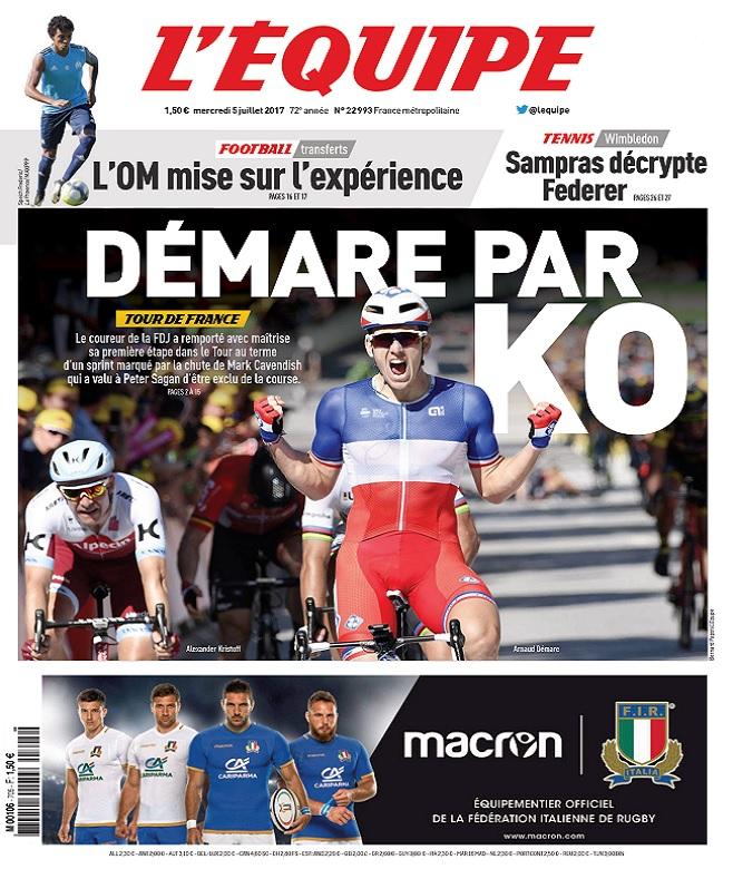 télécharger L'Equipe Du Mercredi 5 Juillet 2017