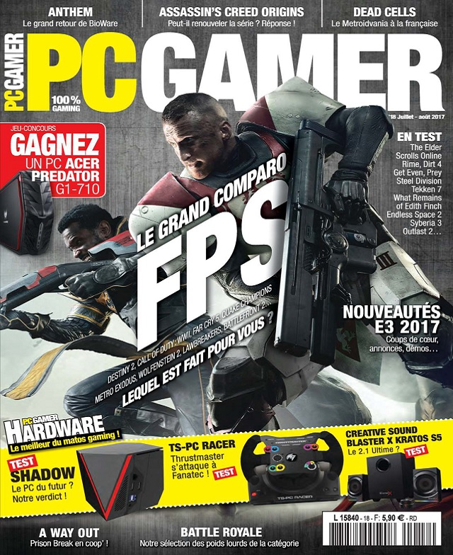 télécharger PC Gamer N°18 - Juillet-Août 2017