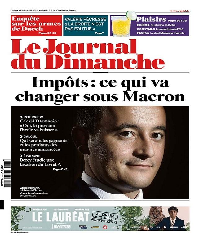 télécharger Le Journal Du Dimanche N°3678 Du 9 Juillet 2017