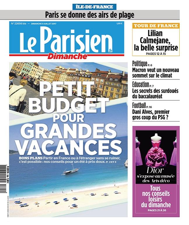 télécharger Le Parisien Dimanche + Supp Ile De France Du 9 Juillet 2017
