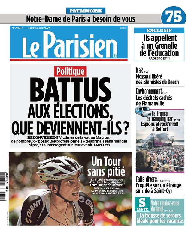 télécharger Le Parisien + Journal De Paris Du lundi 10 Juillet 2017