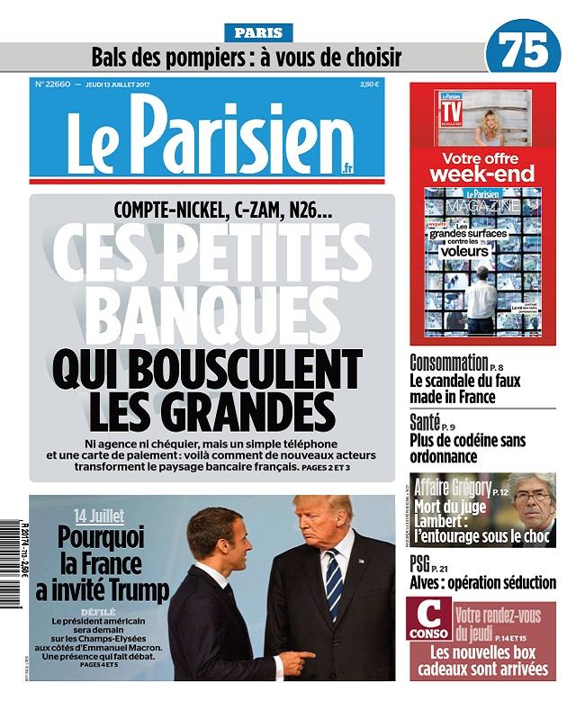 Le Parisien + Magazine + Journal De Paris Du Jeudi 13 Juillet 2017