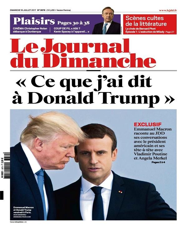 télécharger Le Journal Du Dimanche N°3679 Du 16 au 22 Juillet 2017
