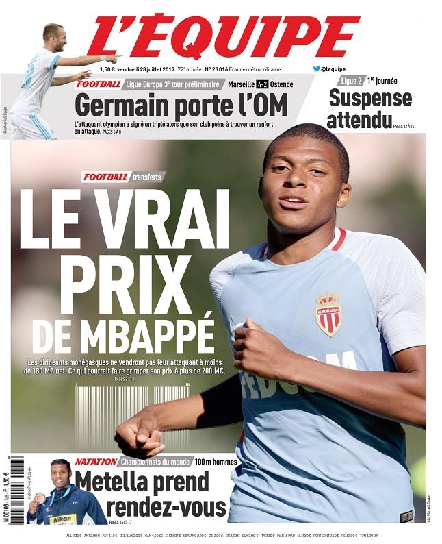 télécharger L'Equipe Du Vendredi 28 Juillet 2017