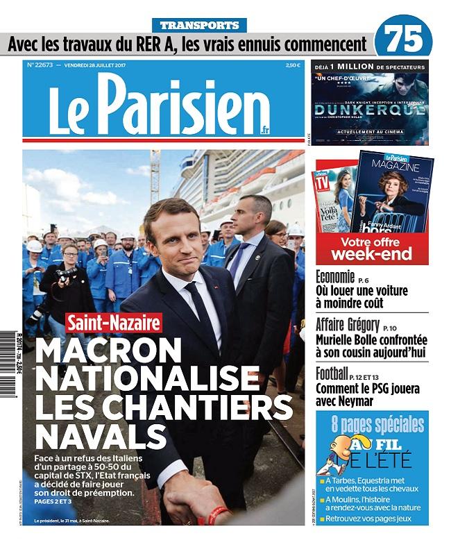 télécharger Le Parisien Du Vendredi 28 Juillet 2017