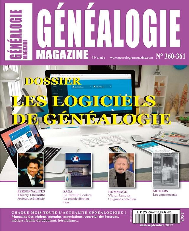 télécharger Généalogie Hors Série N°360-361 - Mai-Septembre 2017