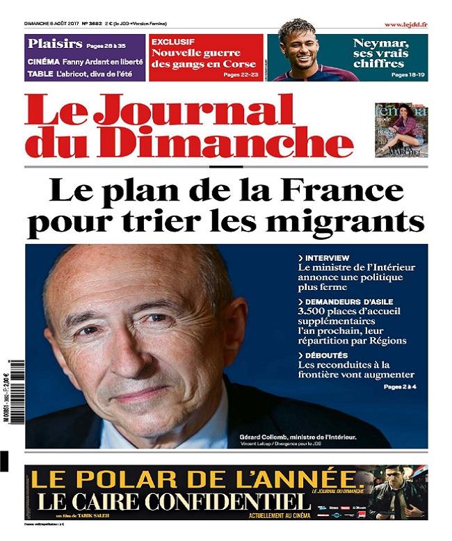 télécharger Le Journal Du Dimanche N°3682 Du 6 Août 2017