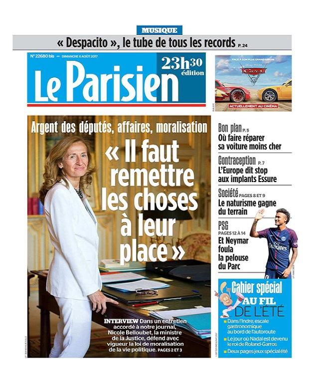 télécharger Le Parisien Du Dimanche 6 Août 2017