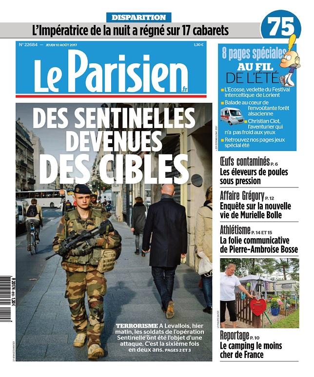 Le Parisien Du Jeudi 10 Août 2017