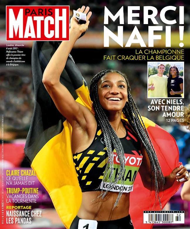 Paris Match Belgique N°831 Du 10 au 16 Août 2017