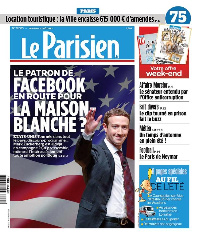 Le Parisien Du Vendredi 11 Août 2017