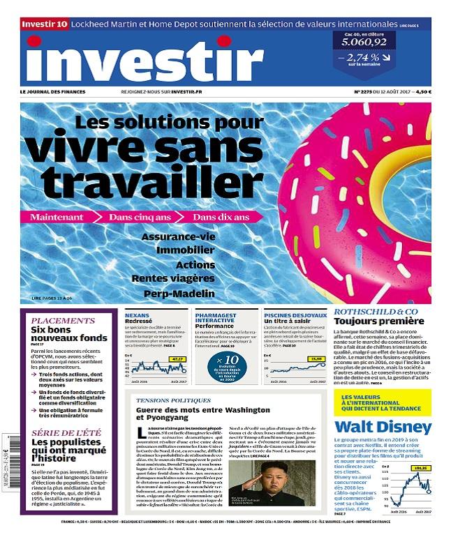 Investir N°2275 Du 12 Août 2017