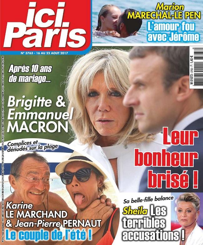 Ici Paris N°3763 Du 16 au 22 Août 2017