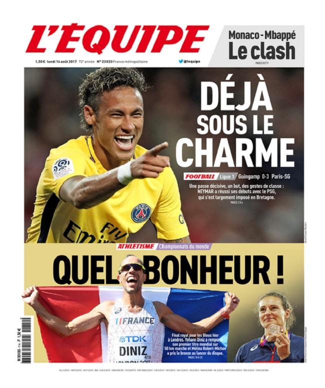télécharger L'Equipe Du Lundi 14 Août 2017