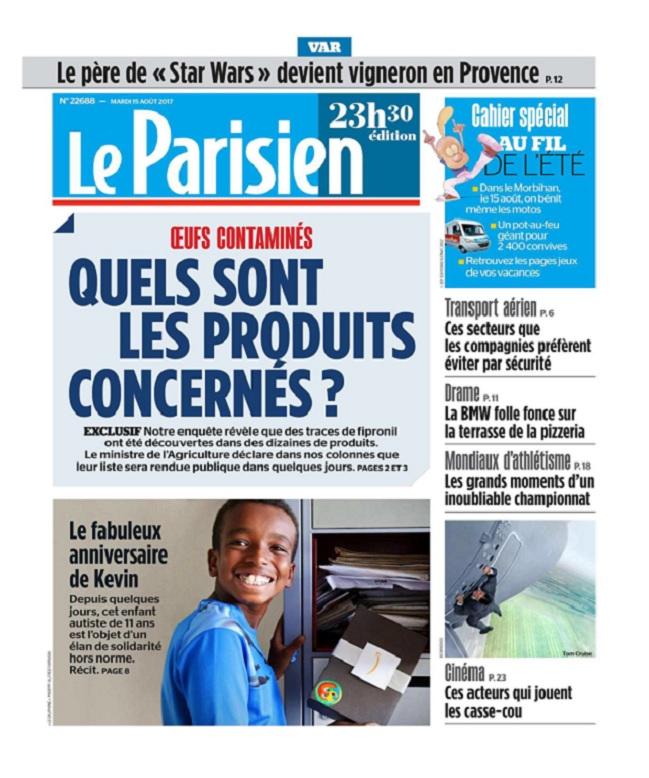 télécharger Le Parisien Du Mardi 15 Août 2017