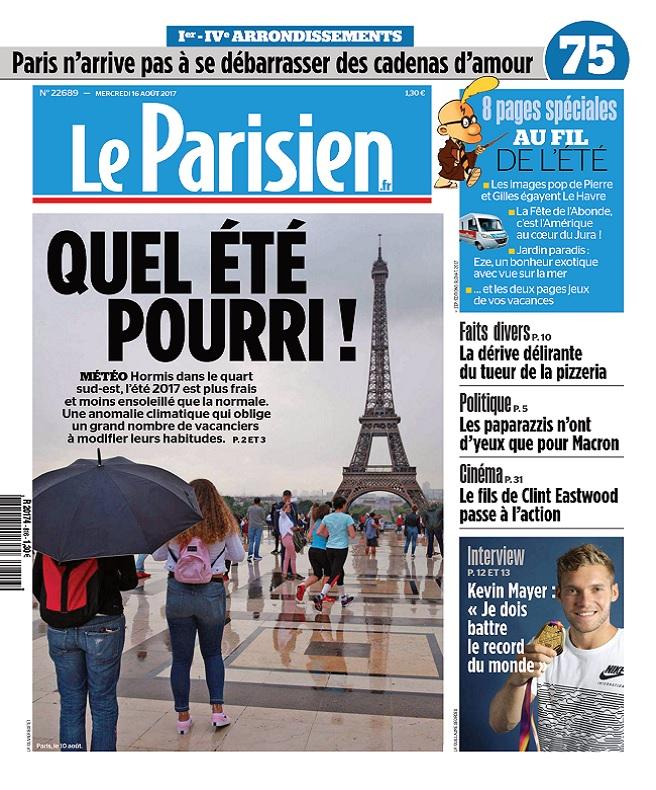 télécharger Le Parisien Du Mercredi 16 Août 2017