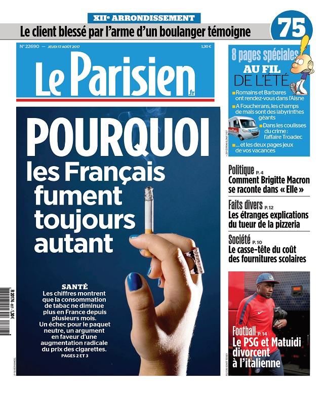 Le Parisien Du Jeudi 17 Août 2017